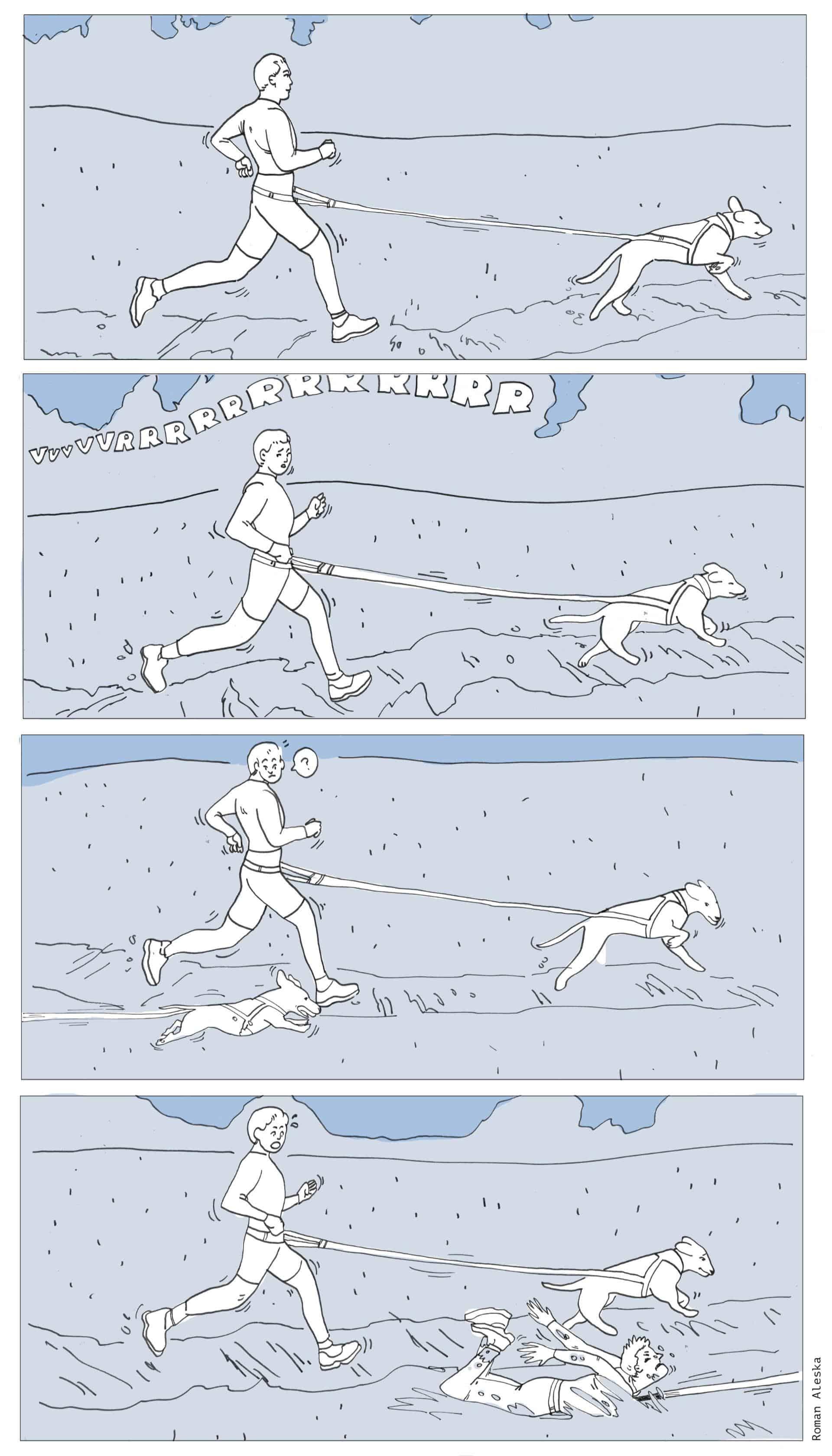 Le canicross avec son chien peut être extrême !