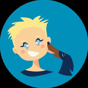 Mimi et Griotte emoji bisous