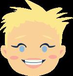Mimi-Griotte emoji contente